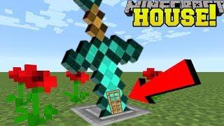 Minecraft: SWORD HOUSE!! (HOW TO LIVE INSIDE A SWORD!)