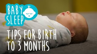 Baby sleep: Tips for newborns