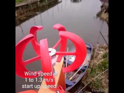 Vertical Axis Wind Turbine 200 watt