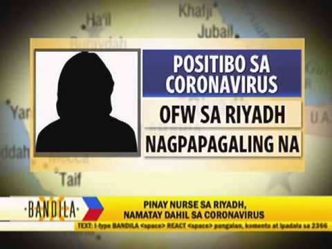 Pinay nurse dies from coronavirus in Riyadh: DFA