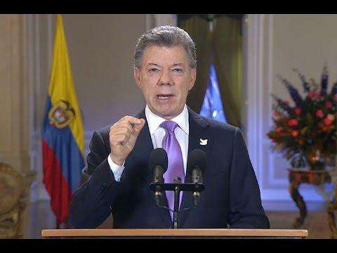 Alocución del Presidente de la República, Juan Manuel Santos Calderón
