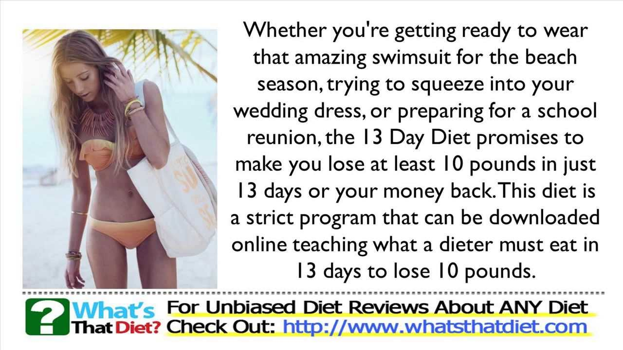 13 Day Diet Plan Review - YouTube