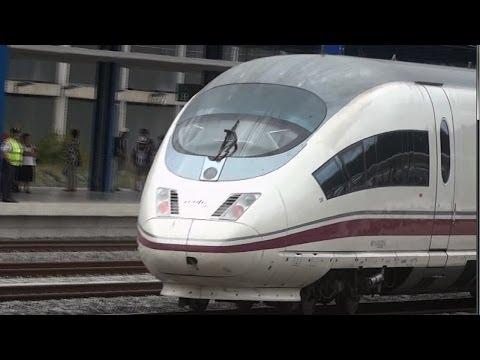 Tren AVE Velaro Renfe 103 parada accidental de emergencia y arranca de Camp de Tarragona. Alta Velocidad. Trenes de España. Trains in Spain. http://videotren...