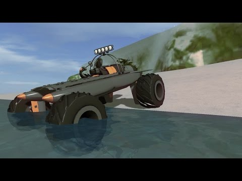 Rocket Powered Amphibious Monster Truck - Homebrew - Vehicle Sandbox