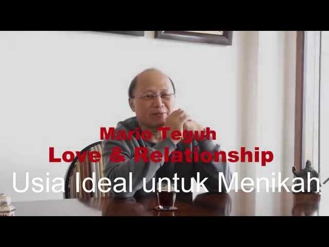 Usia Ideal untuk Menikah - Mario Teguh Love & Relationship