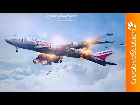 Air-India Plane Crash - Speed art (#Photoshop) | CreativeStation