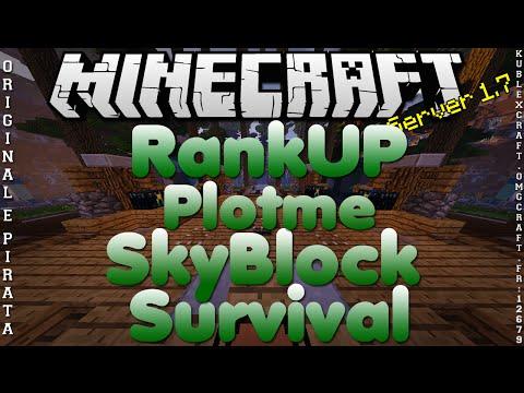 Divulgação de Server 1.7 RankUP Plotme Survival e SkyBlock Original e Pirata #249