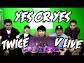 TWICE  - YES OR YES V LIVE SHOWCASE REACTION (FUNNY FANBOYS)