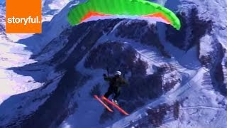 Insane Parachute Skiers Flying Over Mountains