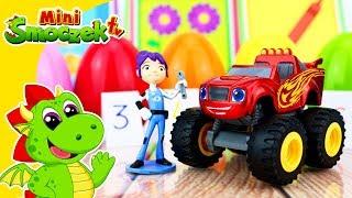 Blaze i Mega Maszyny - Jajka Niespodzianki Ciastolina Nauka Liczenia Zabawki Bajki Dla Dzieci