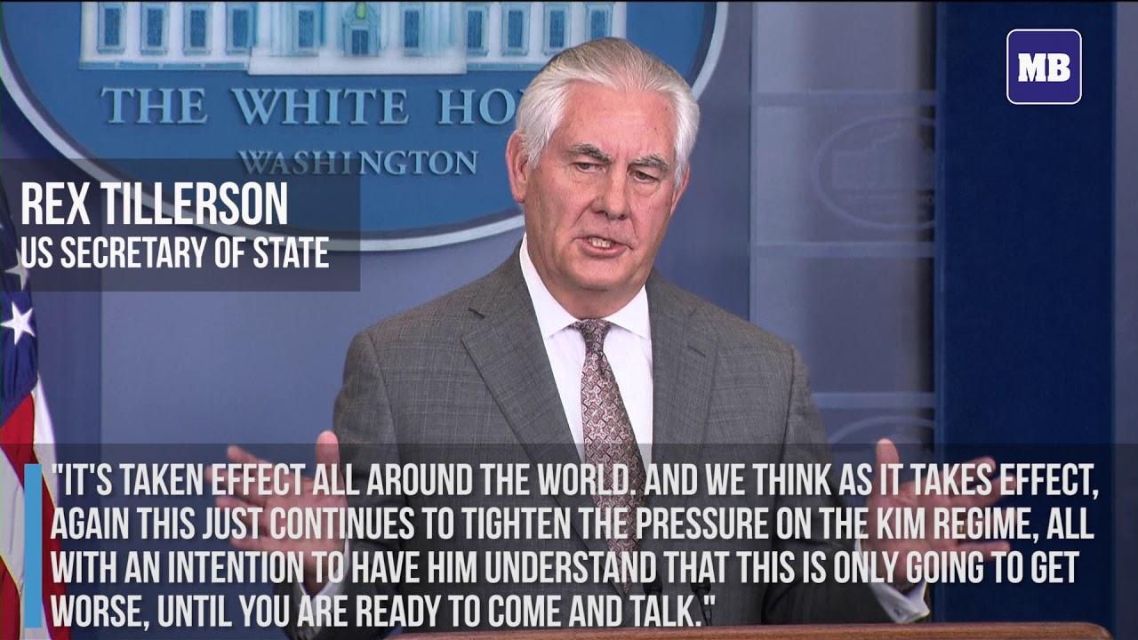 Sanctions having an impact on North Korea  Tillerson