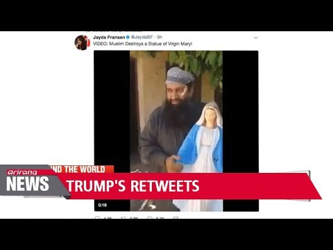 Trump retweets anti-Muslim videos, sparking outcry