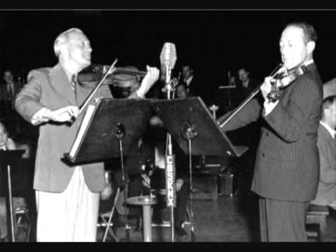 Jascha Heifetz and Jack Benny - USO Skit, WWII
