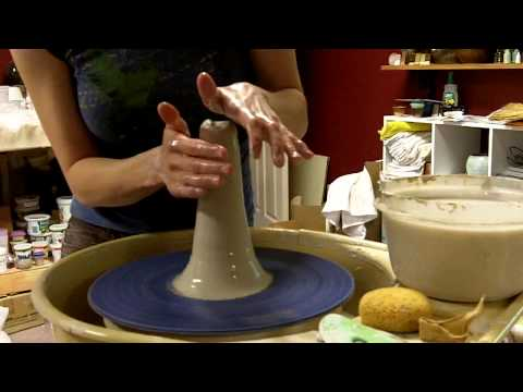 Pottery - How to Center Clay on the Wheel