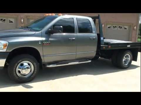 2008 Dodge Ram 3500 Slt Diesel 4x4 Flat Bed For Sale See