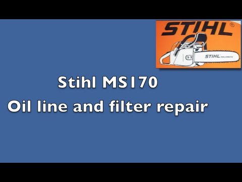 How to video - replace oil line and filter on a Stihl MS 170 chainsaw