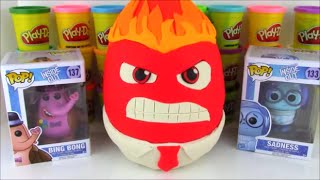 Inside Out Anger Giant Play Doh Surprise Egg Huevos Sorpresa