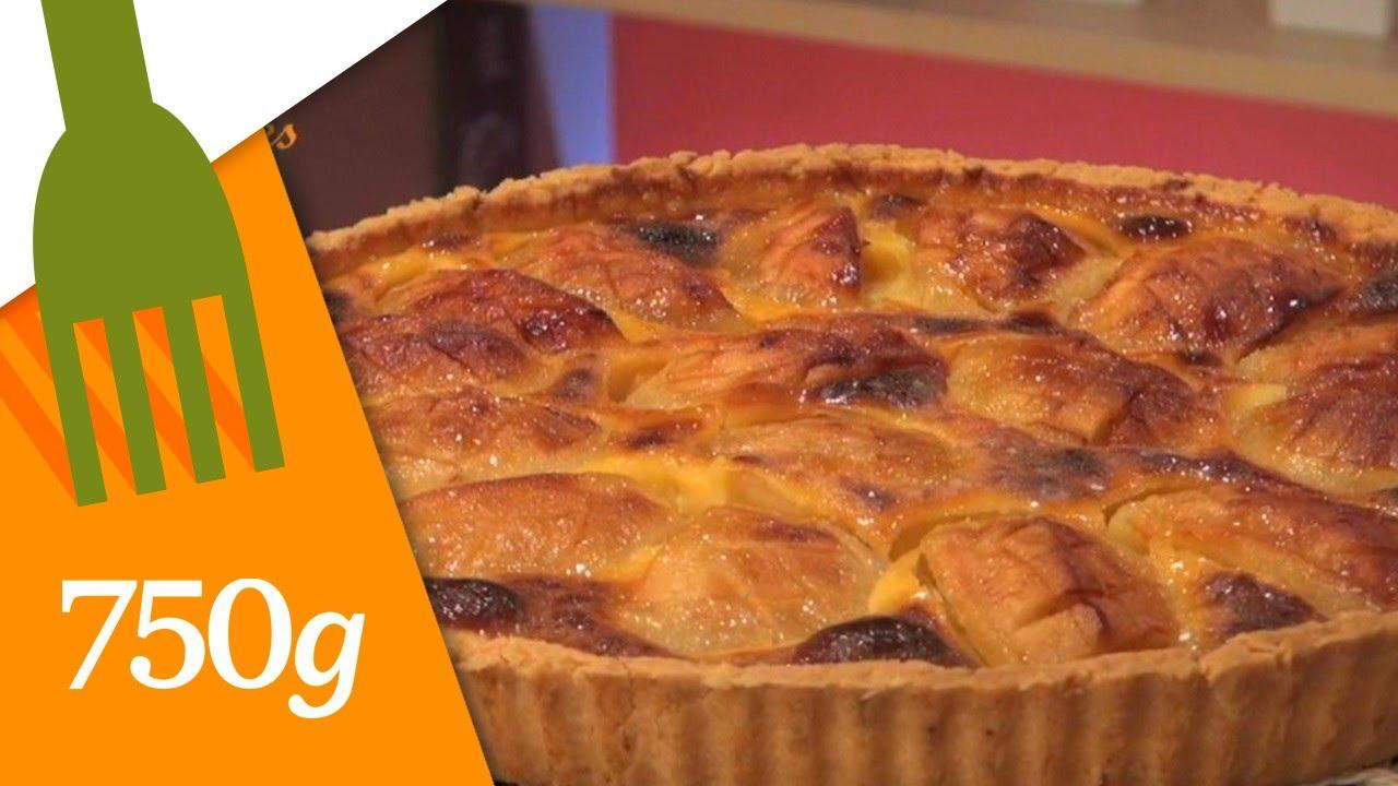 Recette de tarte alsacienne aux pommes 750 grammes youtube - Comment couper des pommes pour une tarte ...