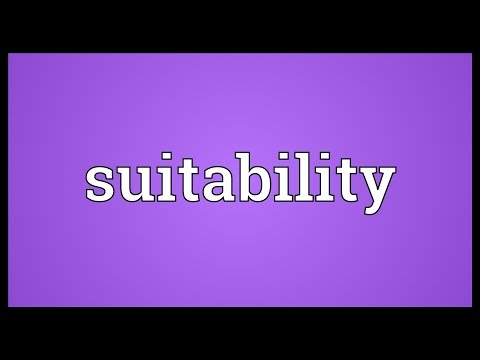 Header of suitability