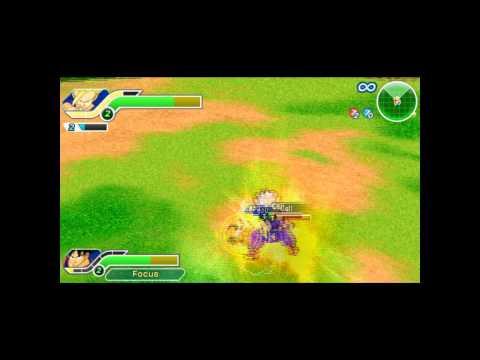 Dragon Ball Z Tenkaichi Tag Team (psp) - Team: Teen Gohan goku Vs Team: Frieza cell video
