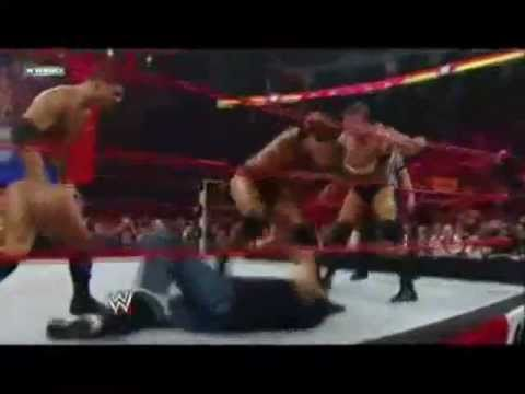 (Copyright WWE) - ArekoLegendT present: Batista returns 2009 to save Triple H, Vince McMahon and Shane McMahon from Randy Orton, Ted DiBiase, Cody Rhodes.