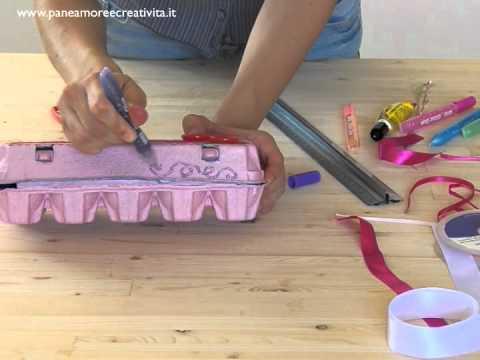 Come riciclare e decorare il cartone delle uova youtube - Tavolino con sedia per bambini ...