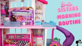 Barbie Sisters Bunk Bed Bedroom Dreamhouse Morning Routine School Routine Poupées Soeurs
