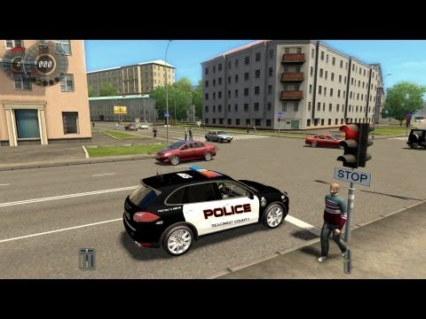 City Car Driving Porsche Cayenne Turbo Police Version [1080p]
