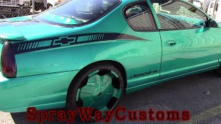 2000 Monte Carlo SS Candy Teal On 22