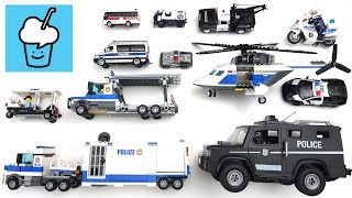 Different police vehicles for kids with lego tomica tiny playmobil