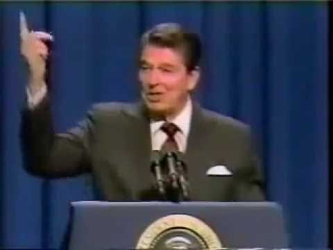 Ronald Reagan's speech about an alien invasion  NWO