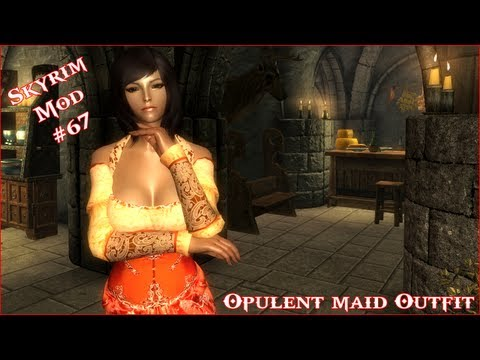 The Elder Scrolls V: Skyrim - Opulent Maid Outfit For CBBE V3 Mod