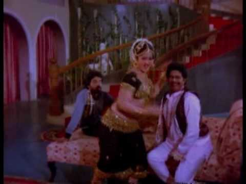 Jayamalini mujra in black ghagra-choli