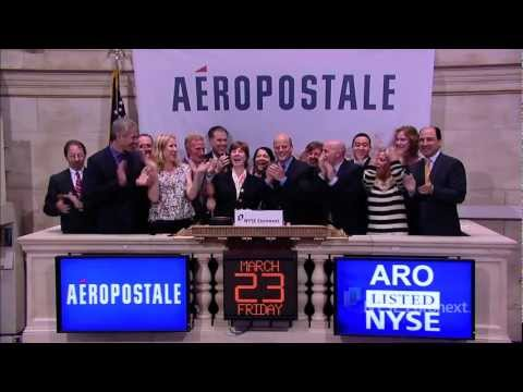 Aeropostale celebrates ten years of trading and rings the NYSE Closing Bell
