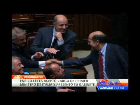 Enrico Letta acepta el cargo de primer ministro de Italia y presenta su gabinete al Jefe de Estado
