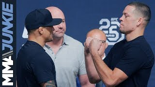 UFC 25th anniversary seasonal press conference face-offs