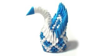 3d Origami Mini Diamond Patern Swan Tutorial