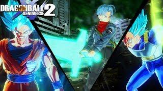 SWORD OF HOPE! NEW Free DLC Pack 4 Update Gameplay! Trunks, Goku & Vegeta | Dragon Ball Xenoverse 2