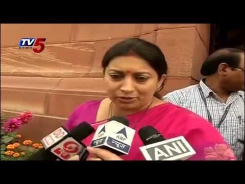 """ Budget Gives Skill India, innovation, girl's education""  Says Smriti Irani : TV5 News"