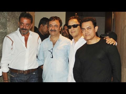 Special Screening Of Aamir Khan's PK For Sanjay Dutt