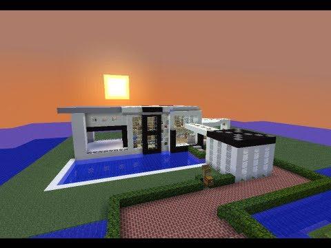 Minecraft casa moderna modern house descarga for Casas modernas imagenes y planos