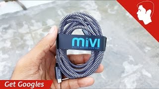 Mivi 6ft long Nylon Braided Micro USB Cable (2.4A ) Review