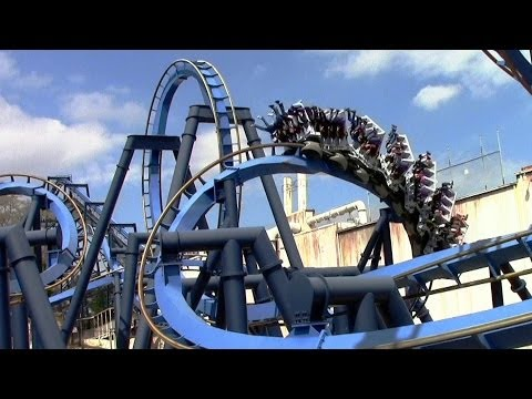 Batman The Ride off-ride HD Six Flags Over Georgia