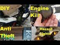 DIY!!..Installing Anti Theft, Engine Kill & Hazard Light Switch In Motorcycle at Home!!