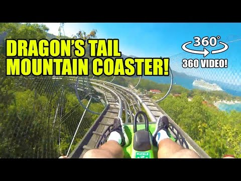 Dragon's Tail 360 Degree POV Alpine Roller Coaster Labadee Haiti Royal Caribbean Harmony of the Seas