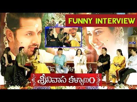 Srinivasa Kalyanam Team Funny Interview | Dil Raju Chit Chat with Srinivasa Kalyanam Team | Nithiin
