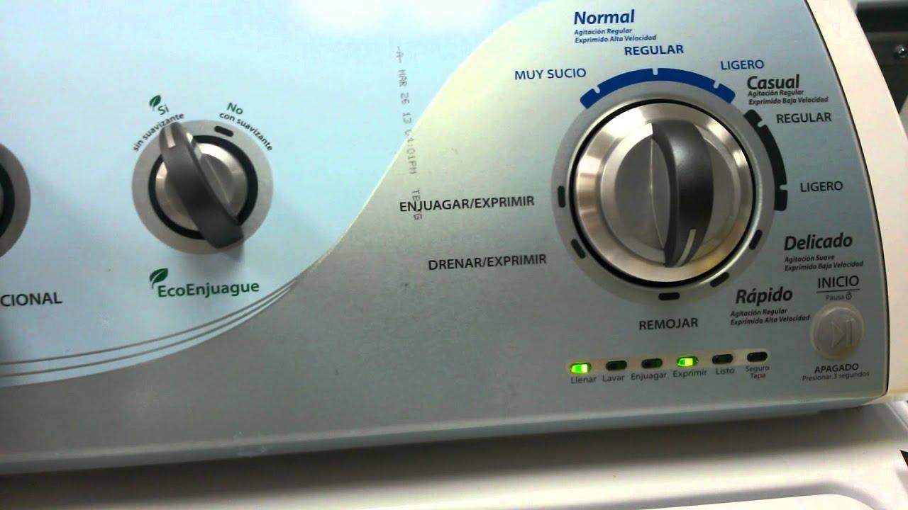 Falla f2 e3 lavadora whirlpool youtube for Como reparar una lavadora