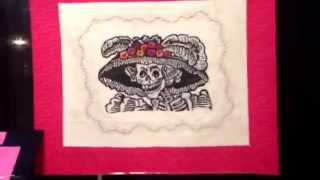 Exhibicion Fiestas Tradicionales de Mexico   En Houston International Quilt Festival 2014