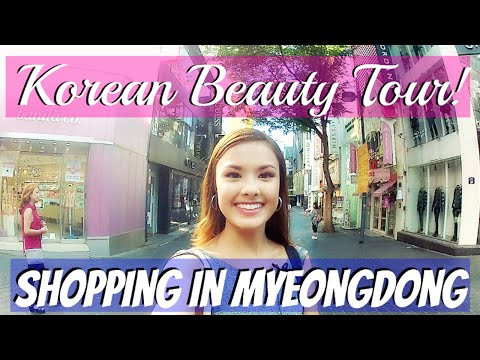 SHOPPING IN MYEONGDONG | Seoul, Korea Beauty Shopping Tour | Etude House, Innisfree, Banila Co, etc