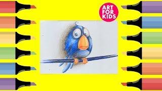 ✅ Dạy vẽ Chú chim trong phim hoạt hình cho bé | Dạy bé vẽ | How to draw an anime bird for Kid.